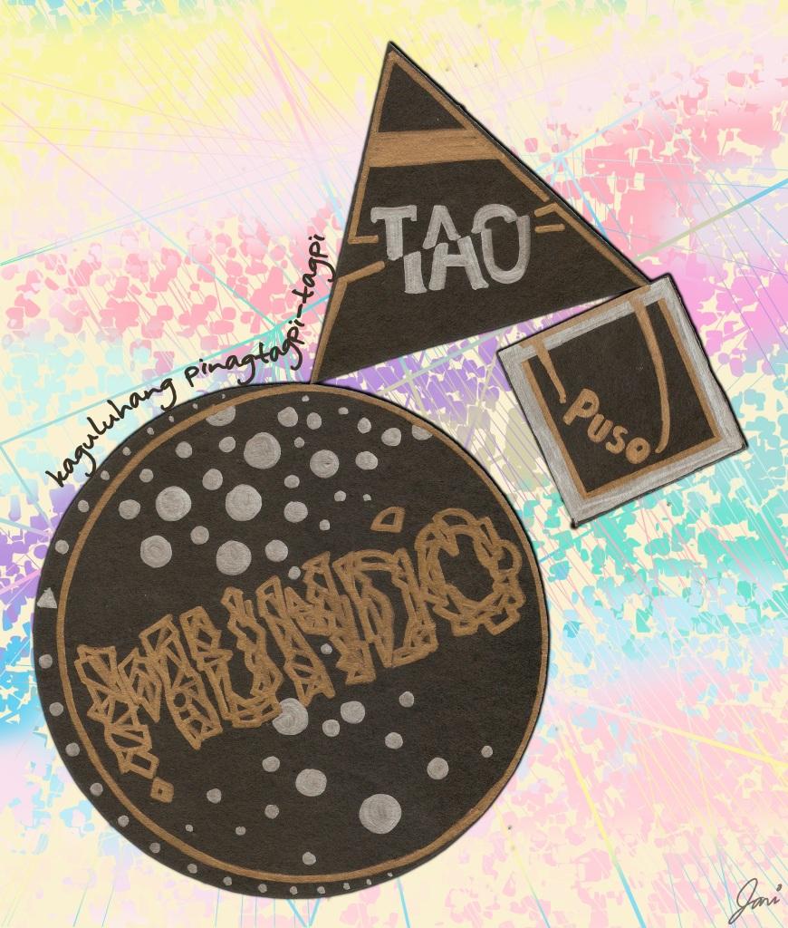 """kaguluhang pinagtagpi-tagpit"", 12 April 2013, Colored felt pens on paper, Photoshop CS5"
