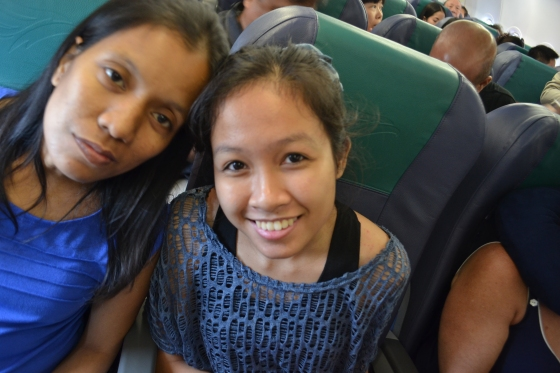 It's Ate Risa's first flight! Haha it was all very exciting. We're also thankful that the flight went smoothly, if you discount the delays.
