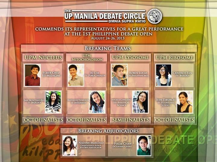 Credit: UP Manila Debate Circle