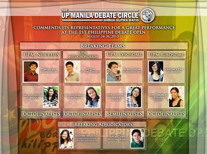Credit: UP Manila Debate Circle