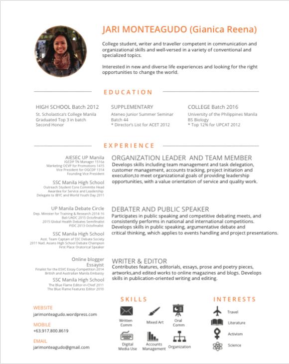 Sept 2015 CV Resume