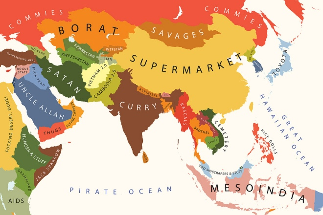 In fact, this helpful map suggests the unique selling points of the different Asian countries. Very accurate.