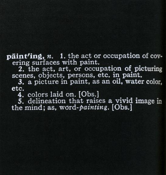 Joseph Kosuth, Art as Idea as Idea (1966-68)