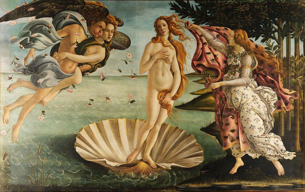 Sandro Botticelli, Nascita di Venere (mid-1480s)